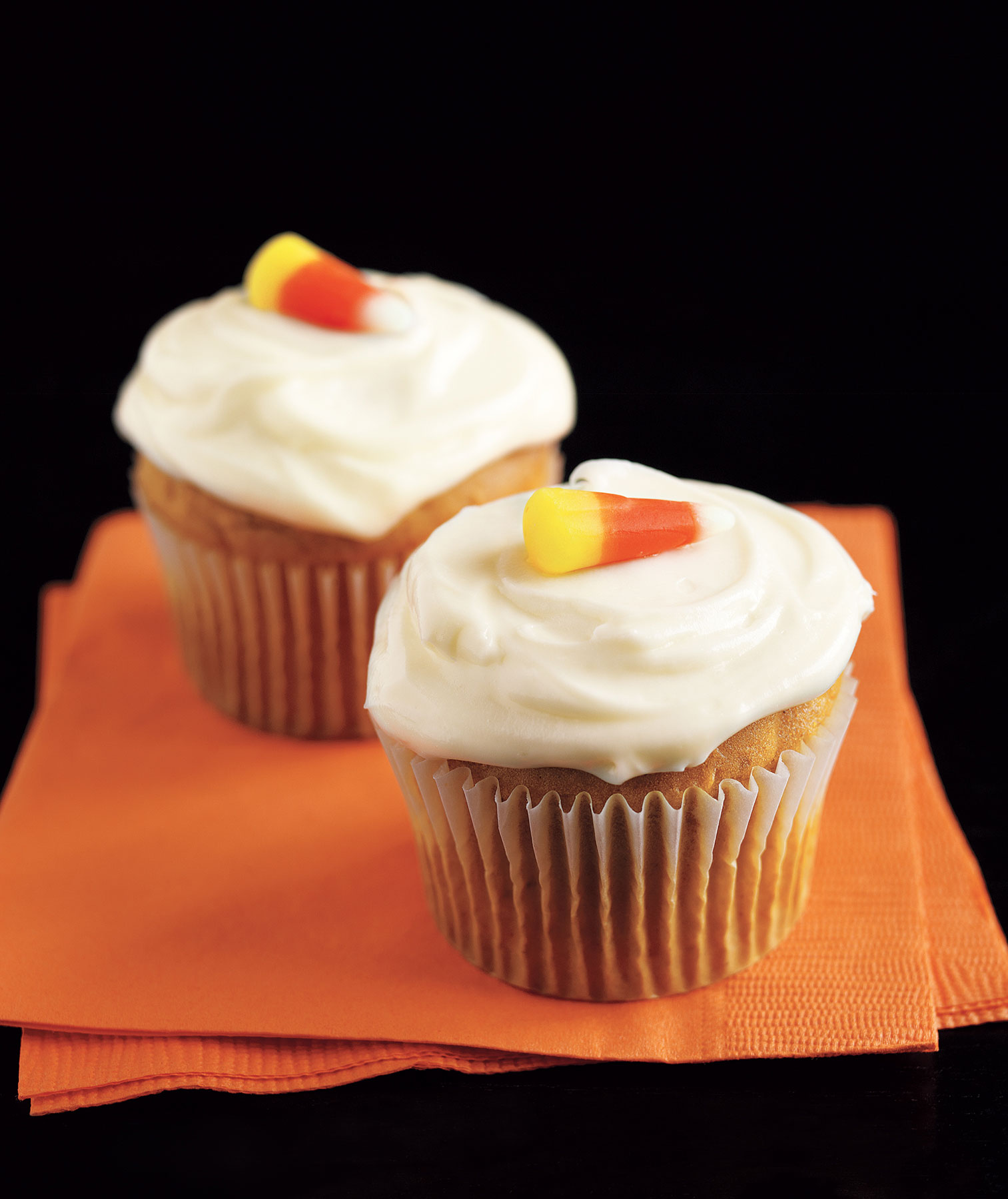 Halloween desserts and Halloween treats - Pumpkin Cupcakes With Cream Cheese Frosting