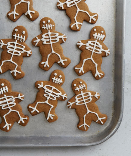 Halloween desserts and Halloween treats - Skeleton Cookies