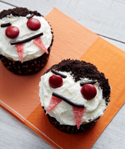 Halloween desserts and Halloween treats - Vampire Cupcakes