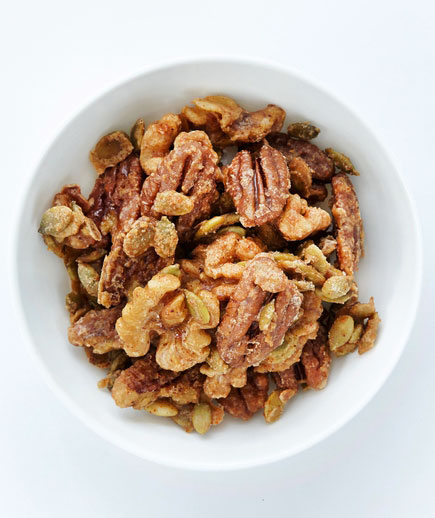 Halloween food ideas, easy Halloween party food - Spiced Nuts and Pepitas
