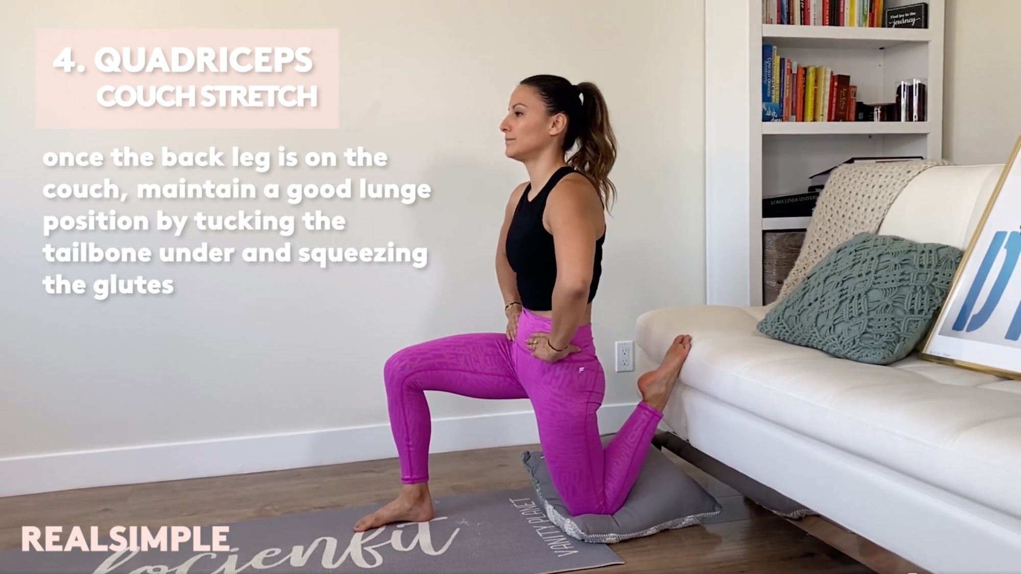 Quadriceps Couch Stretch for back pain