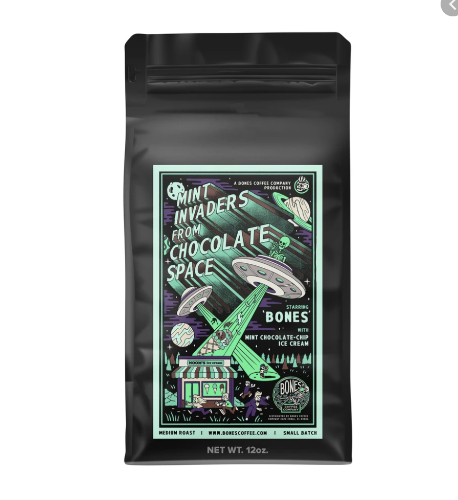 Bones Coffee Company's Mint Invaders (From Chocolate Space)