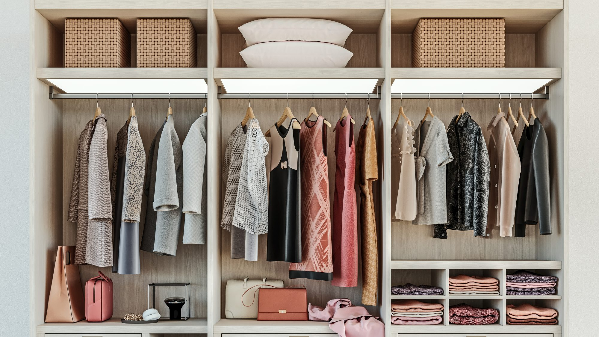 neat closet organized by organizational psychologist