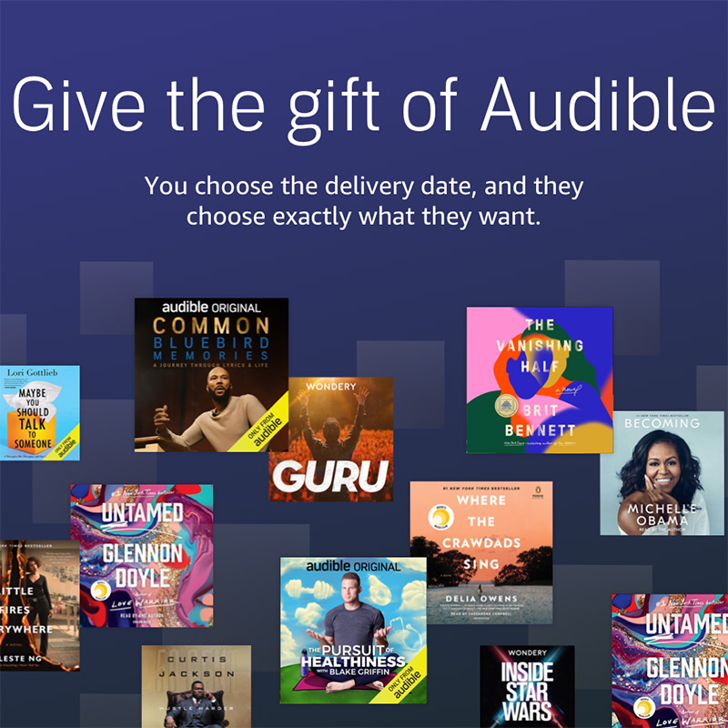 Gifts for Readers: Audible Membership