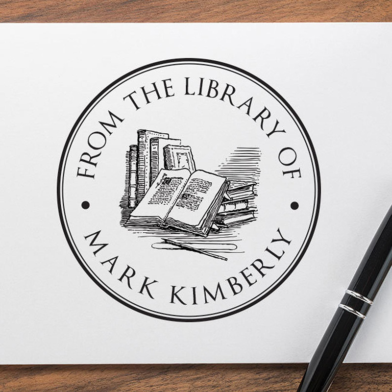 Gifts for Readers: Personalized Bookplate Stamp