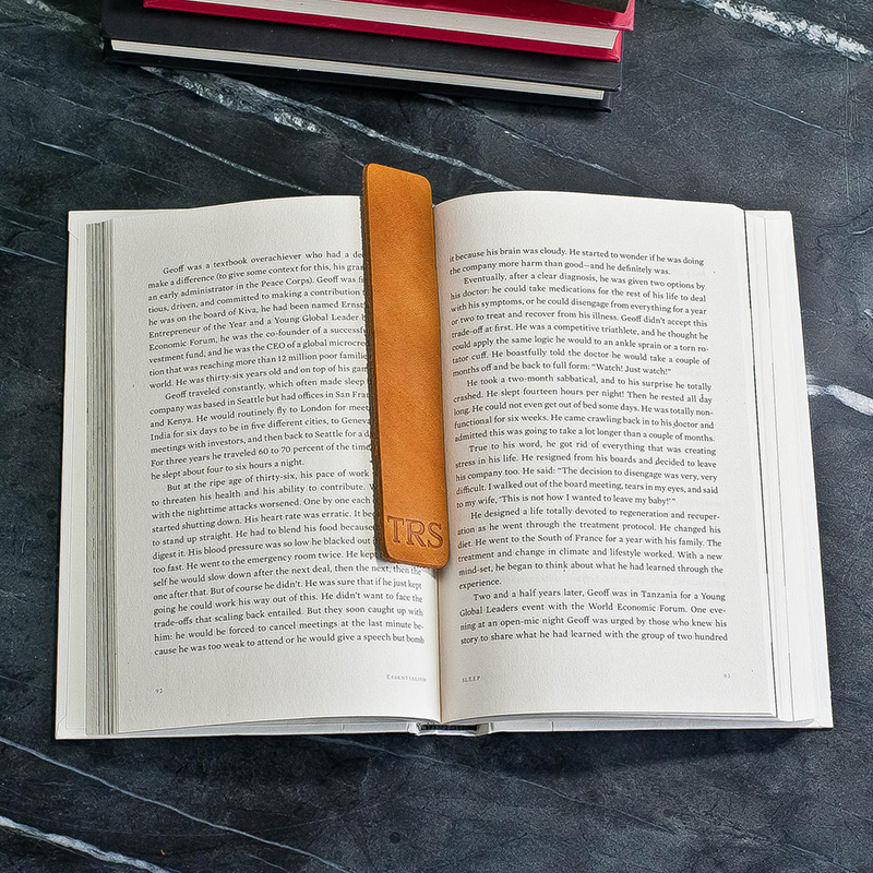 Gifts for Readers: Personalized Premium Leather Bookmark