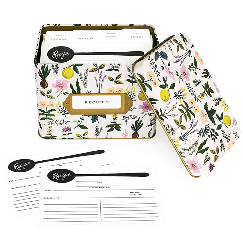 Best gifts for sisters - Rifle Paper Co. Herb Garden Recipe Tin