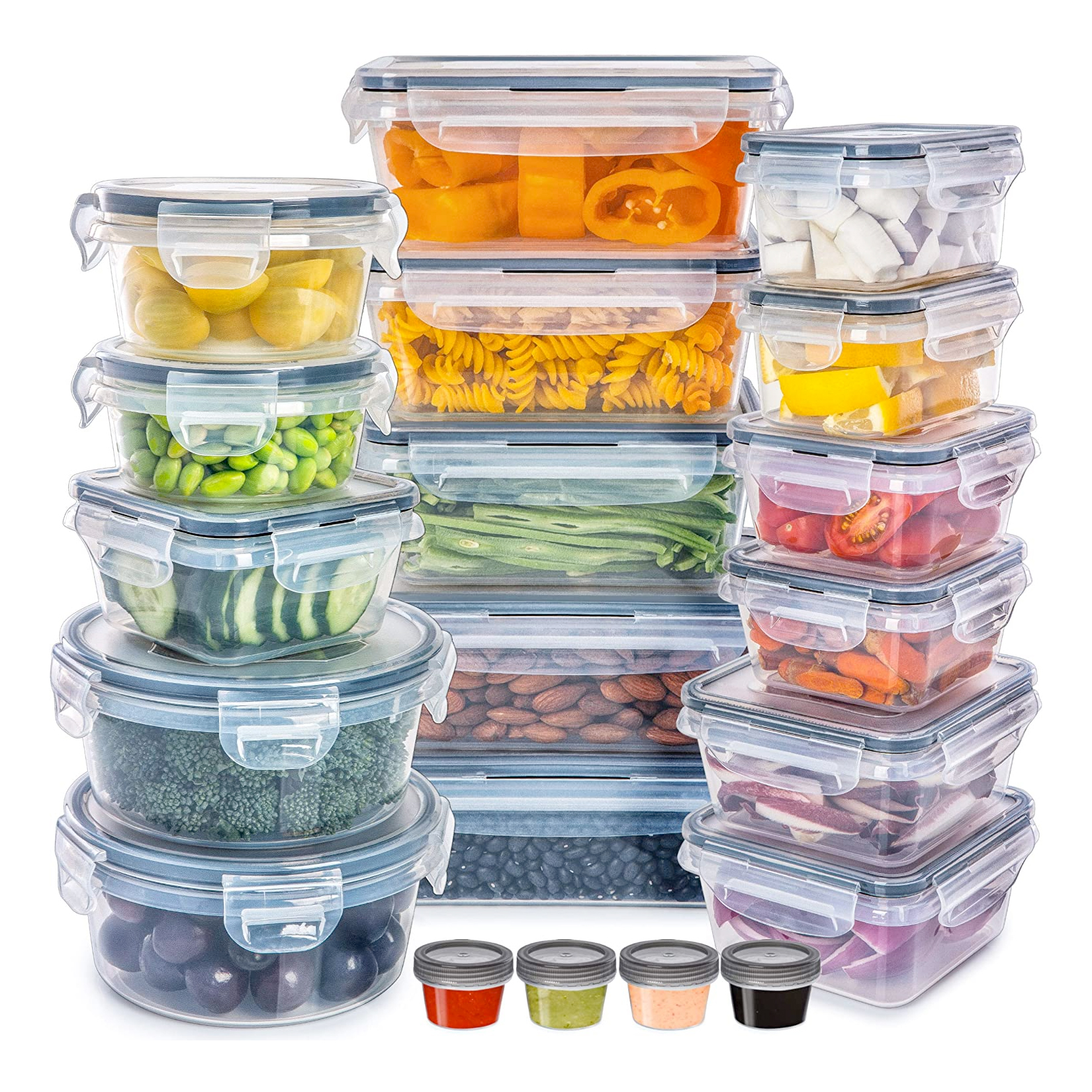 Fullstar Plastic Food Storage Containers with Lids