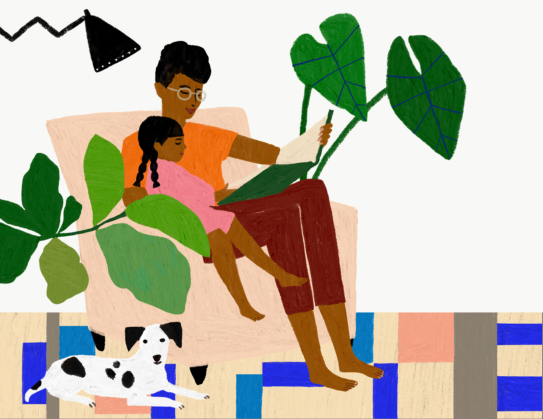 Positive Parenting Tips: Parent reading to child