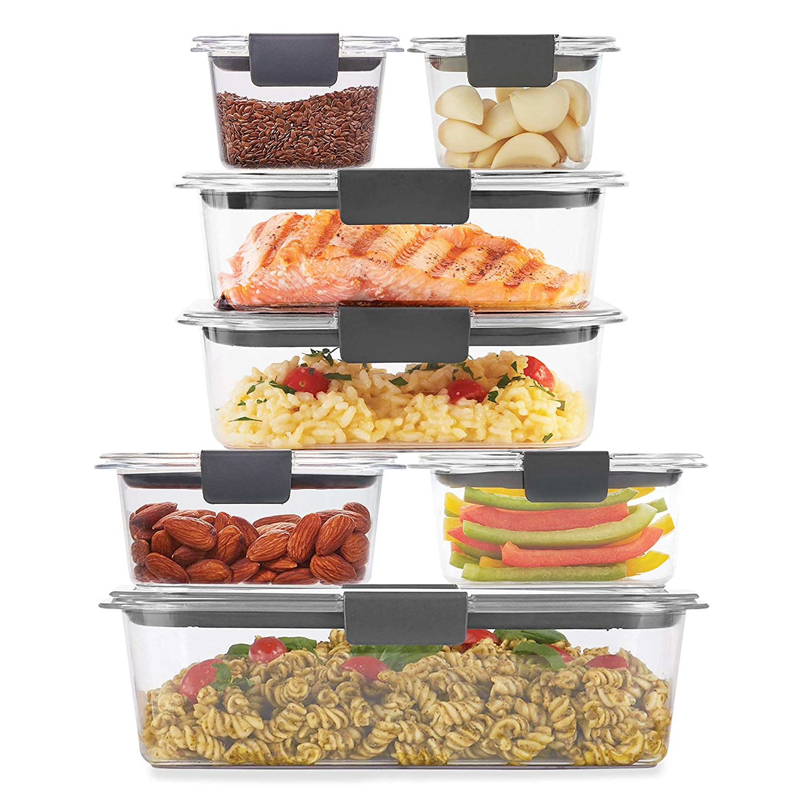 Rubbermaid Brilliance 14-Piece Plastic Food Container