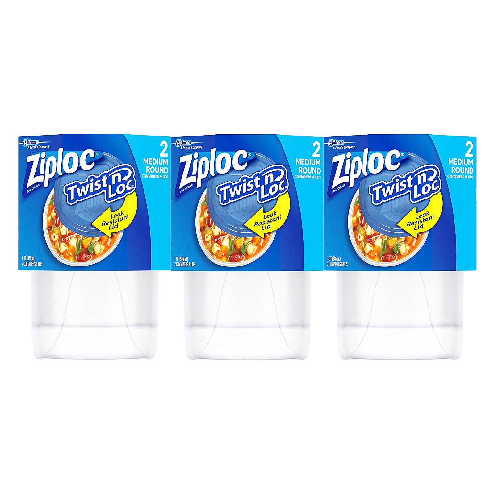 Ziploc Twist 'n Loc Storage Containers for Food