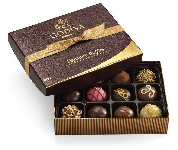 Best gifts for best friend – Signature Chocolate Truffles Gift Box, Classic Gold Ribbon, 12 pc.