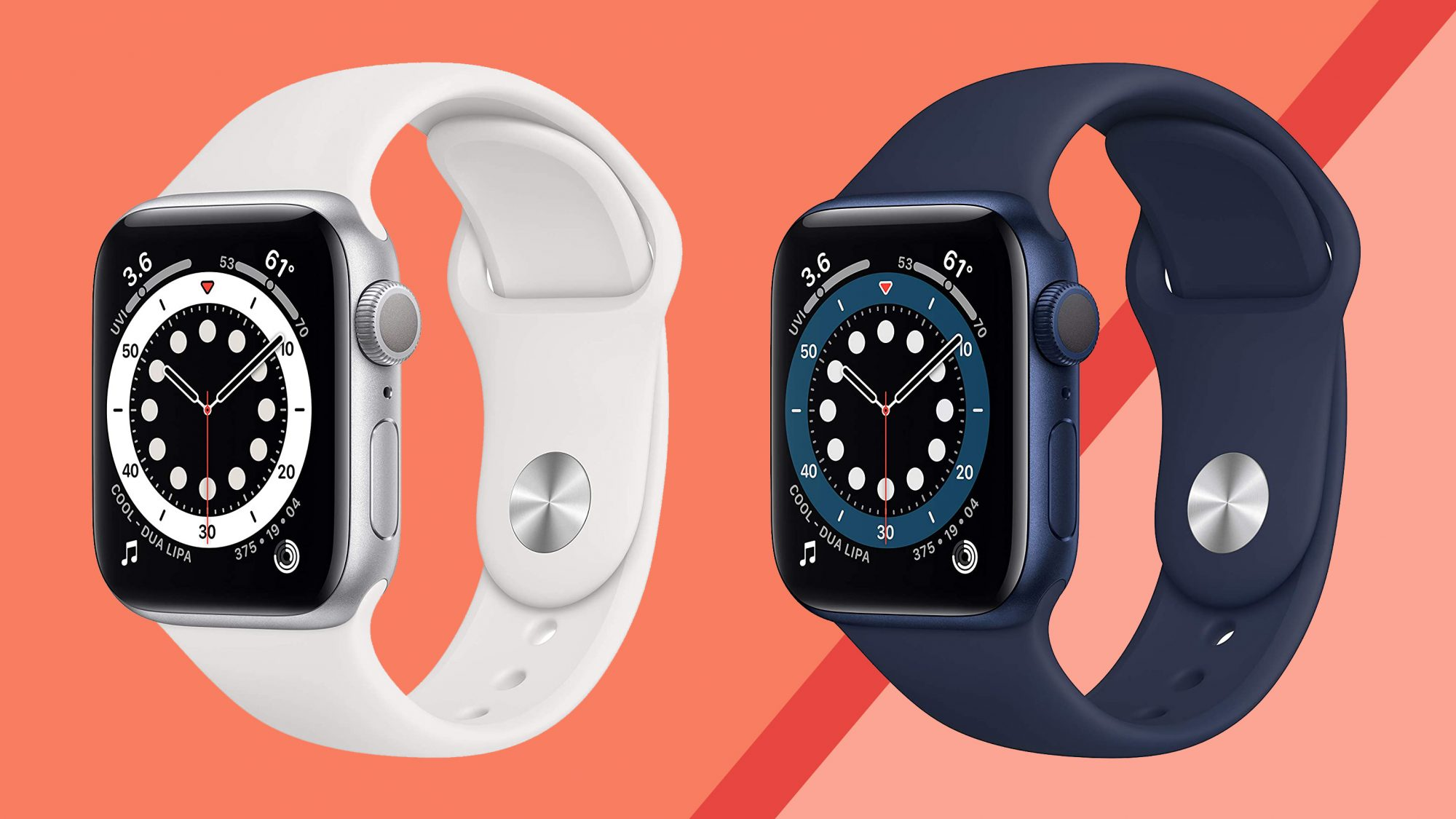 Best christmas gifts 2020 - apple watch SE tout on orange background