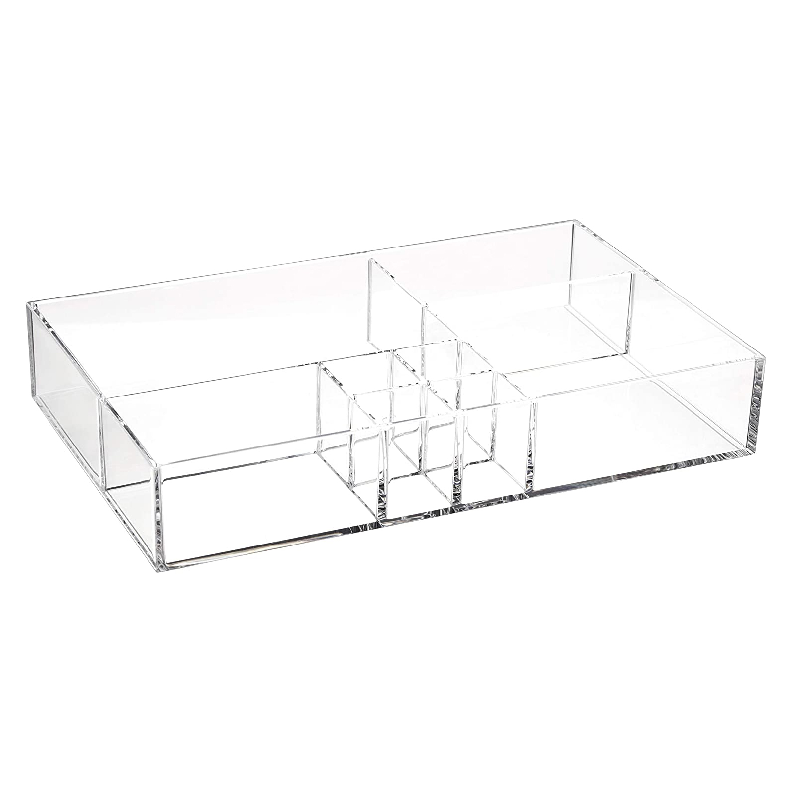 8-Compartment Durable Makeup Jewelry Accessories Storage Organizer Tray