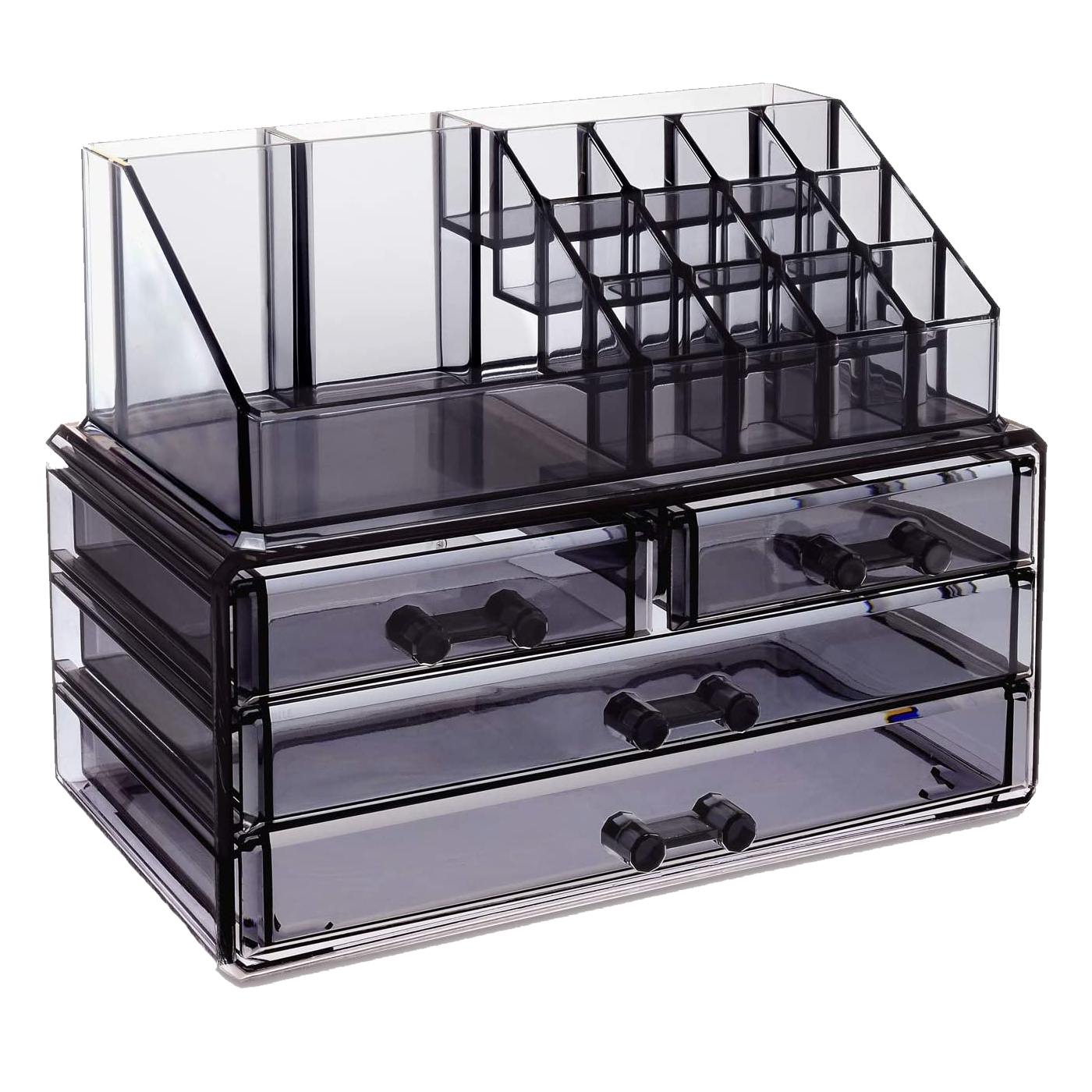 Ikee Design Translucent Gray Jewelry & Cosmetic Storage Display Boxes