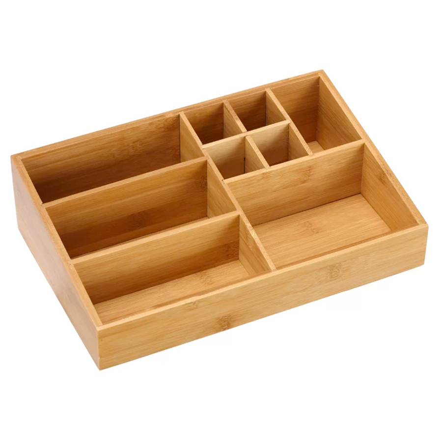 Port Lincoln Emily Bamboo Cosmetic Organizer