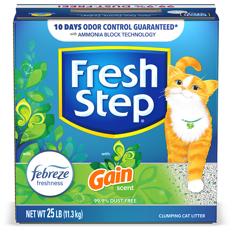 Problem Solvers: Fresh Step With Febreze Freshness and Gain Scent Clumping Clay Litter