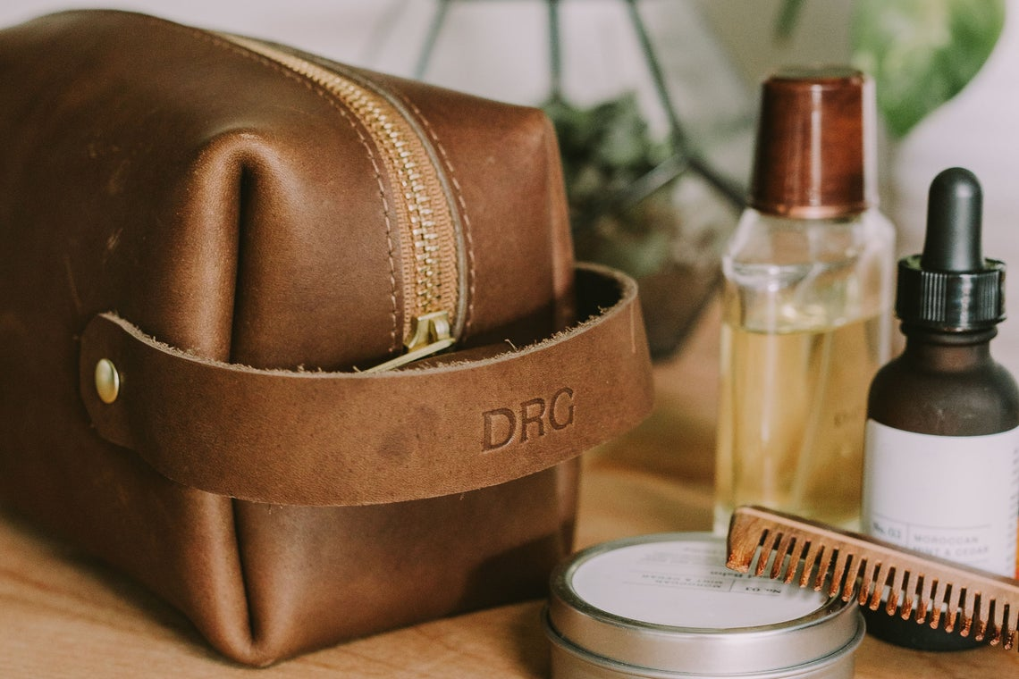 Christmas Gifts for Dad, Leather Dopp Kit