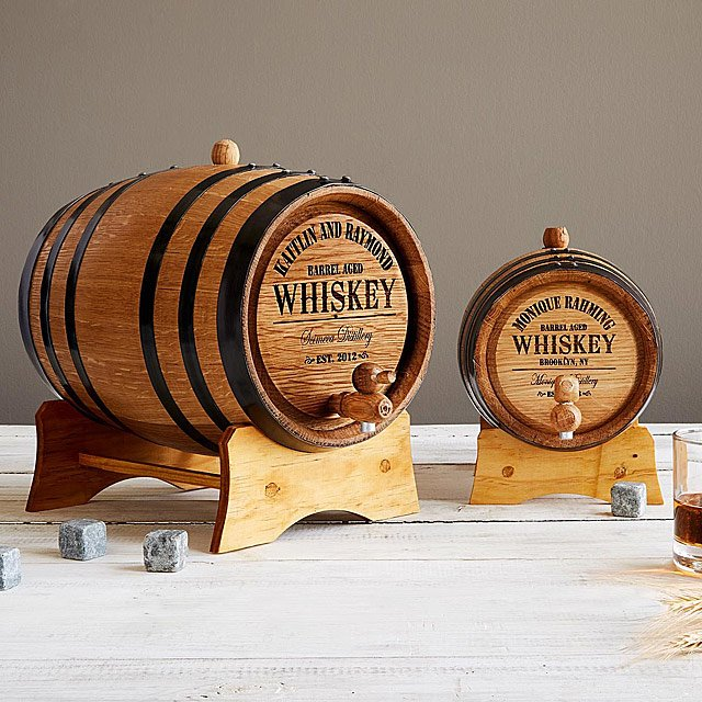 Christmas Gifts for Dad, Customized Whiskey Barrel