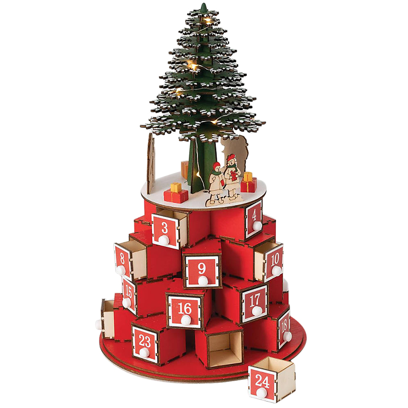 Best advent calendars 2020 - Red Presents and Christmas Tree Advent Calendar
