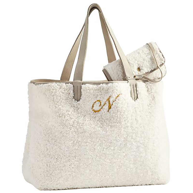 Best Christmas gifts 2020 - Pottery Barn Faux Fur Tote Bag
