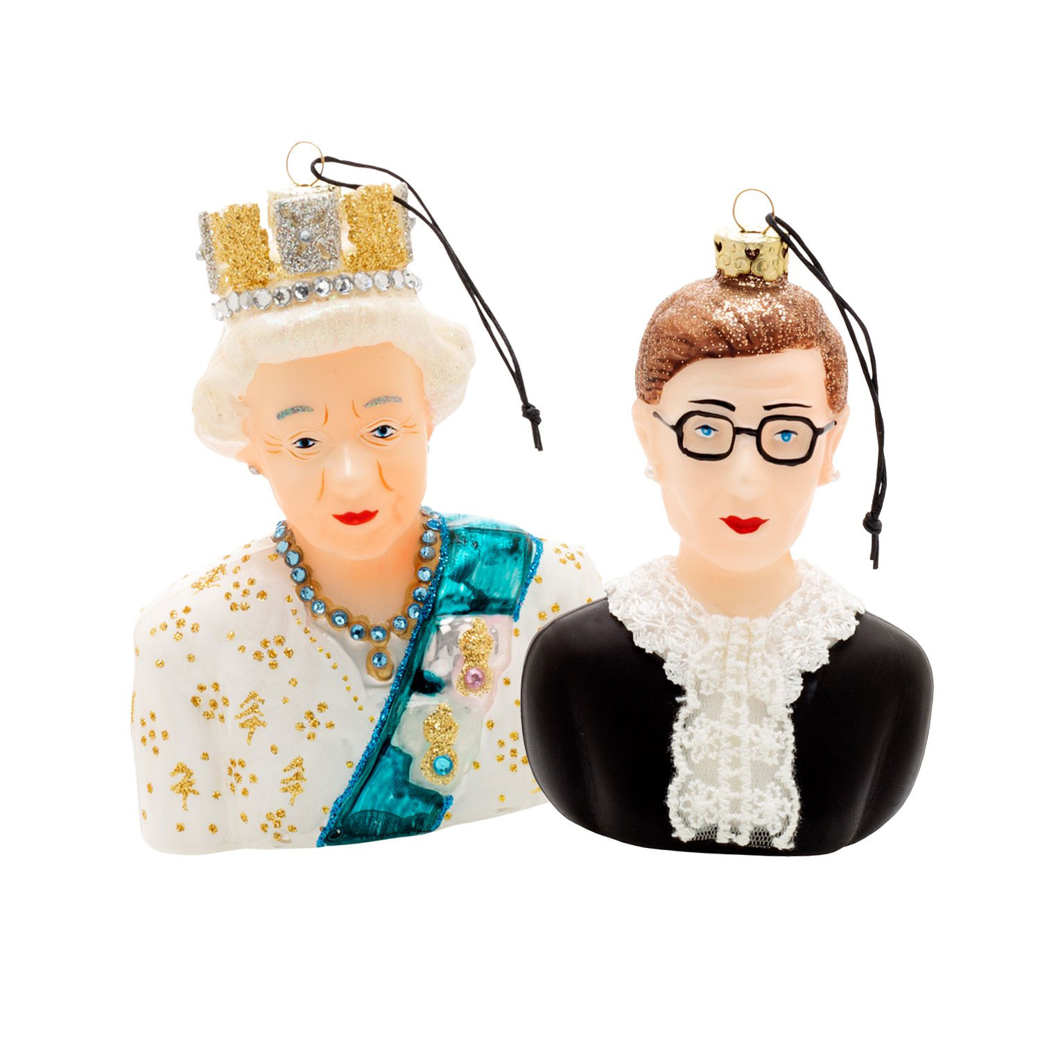 Best Christmas gifts 2020 - Queen Elizabeth and RBG Ornament Set