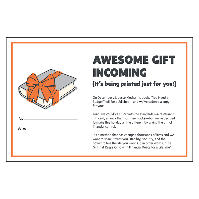 Best Christmas gifts 2020 - You Need a Budget Annual Gift Subscription