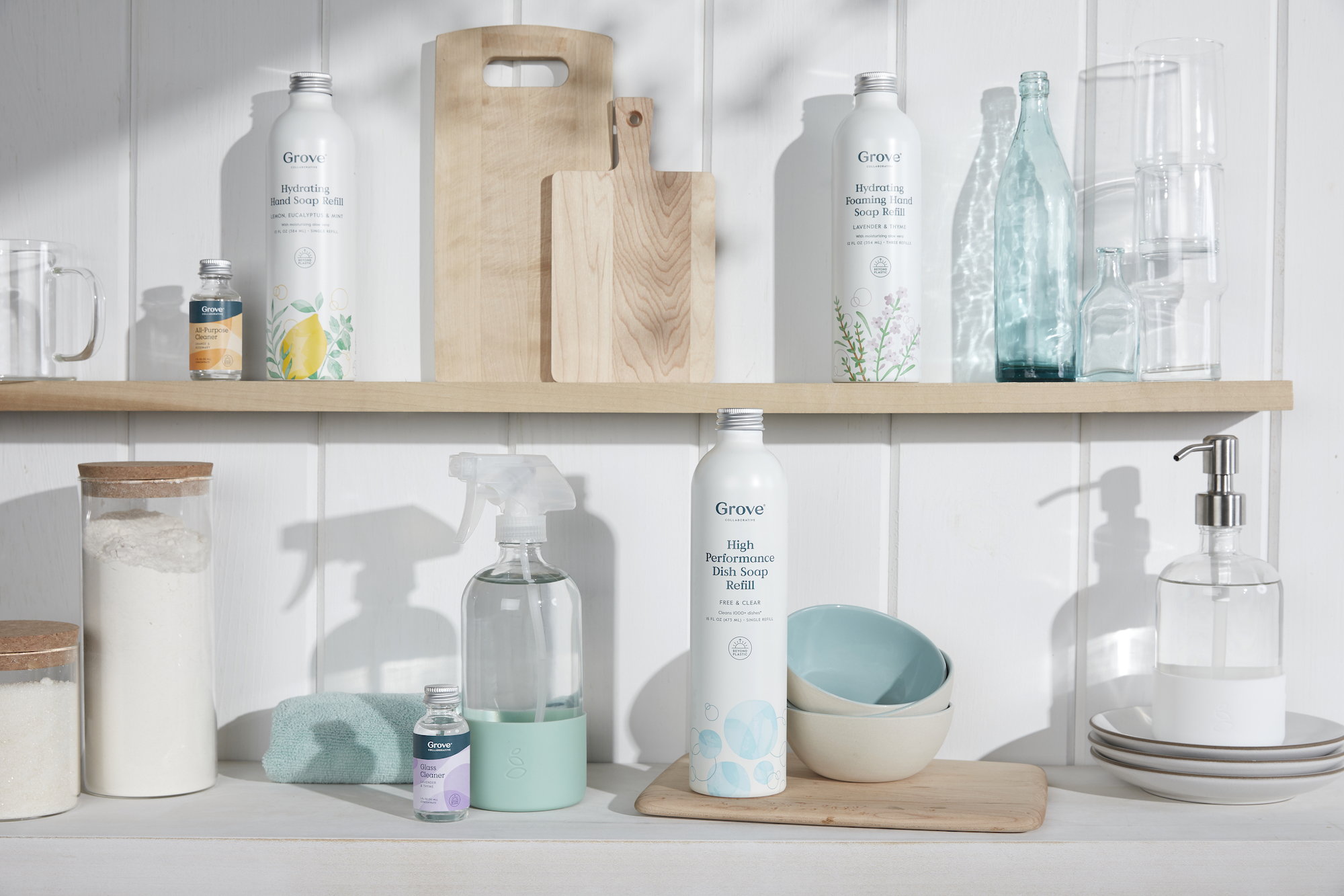 Grove Collaborative Beyond Plastic products on shelves