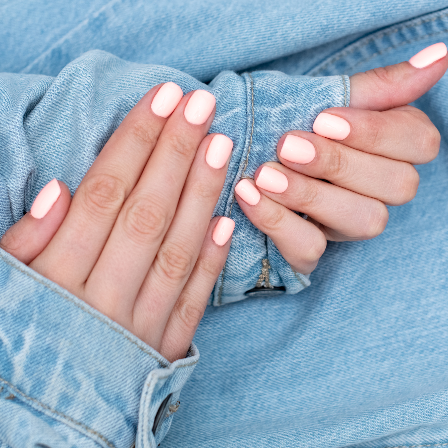 How to break bad habits (biting nails), close up shot of woman with manicure
