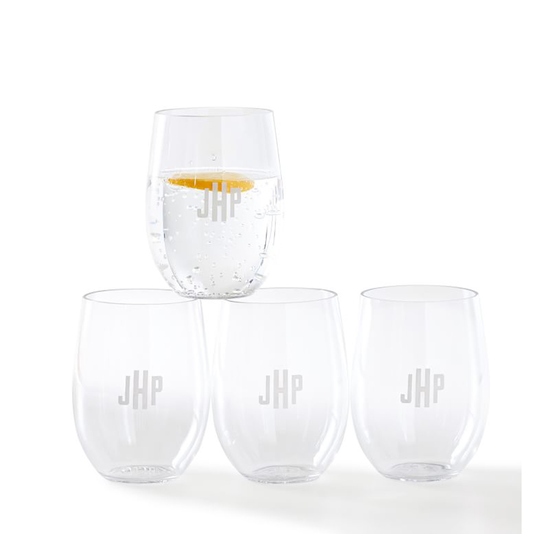 Secret Santa Gifts 2020: acrylic outdoor stemless wine glasses