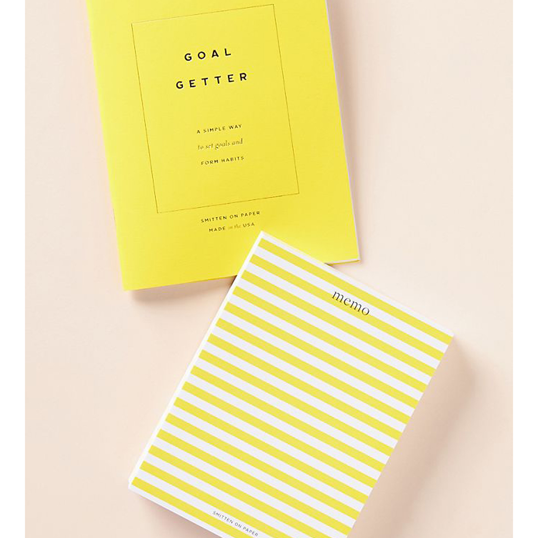 Secret Santa Gifts 2020: simple yellow striped notepad