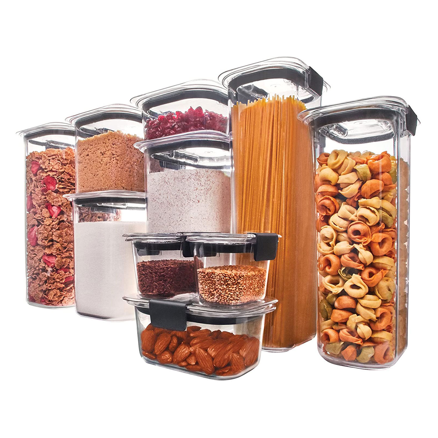 rubbermade food storage organization containers airtight set