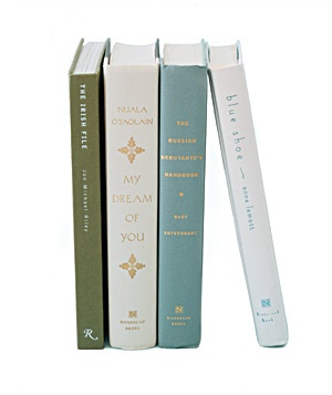 four books standing