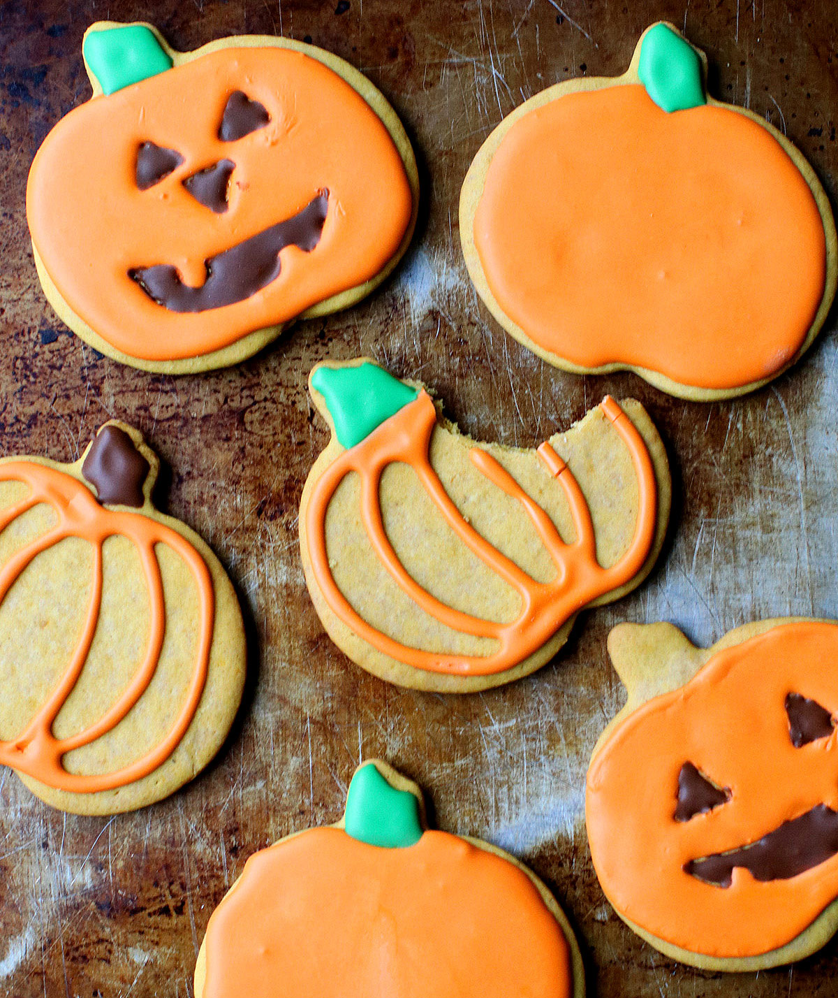 Halloween desserts and Halloween treats - Pumpkin Sugar Cookies