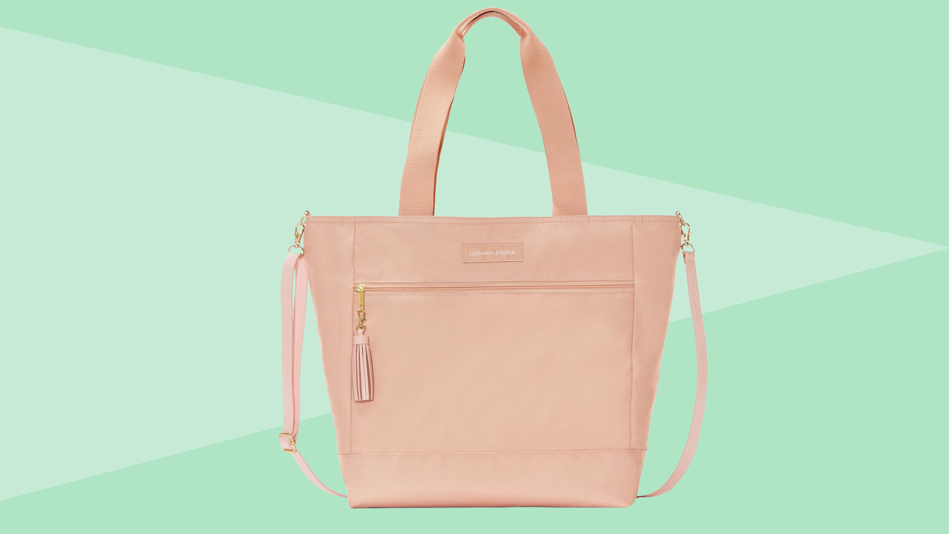 Best gifts for new moms - Big waterproof zippered tote bag