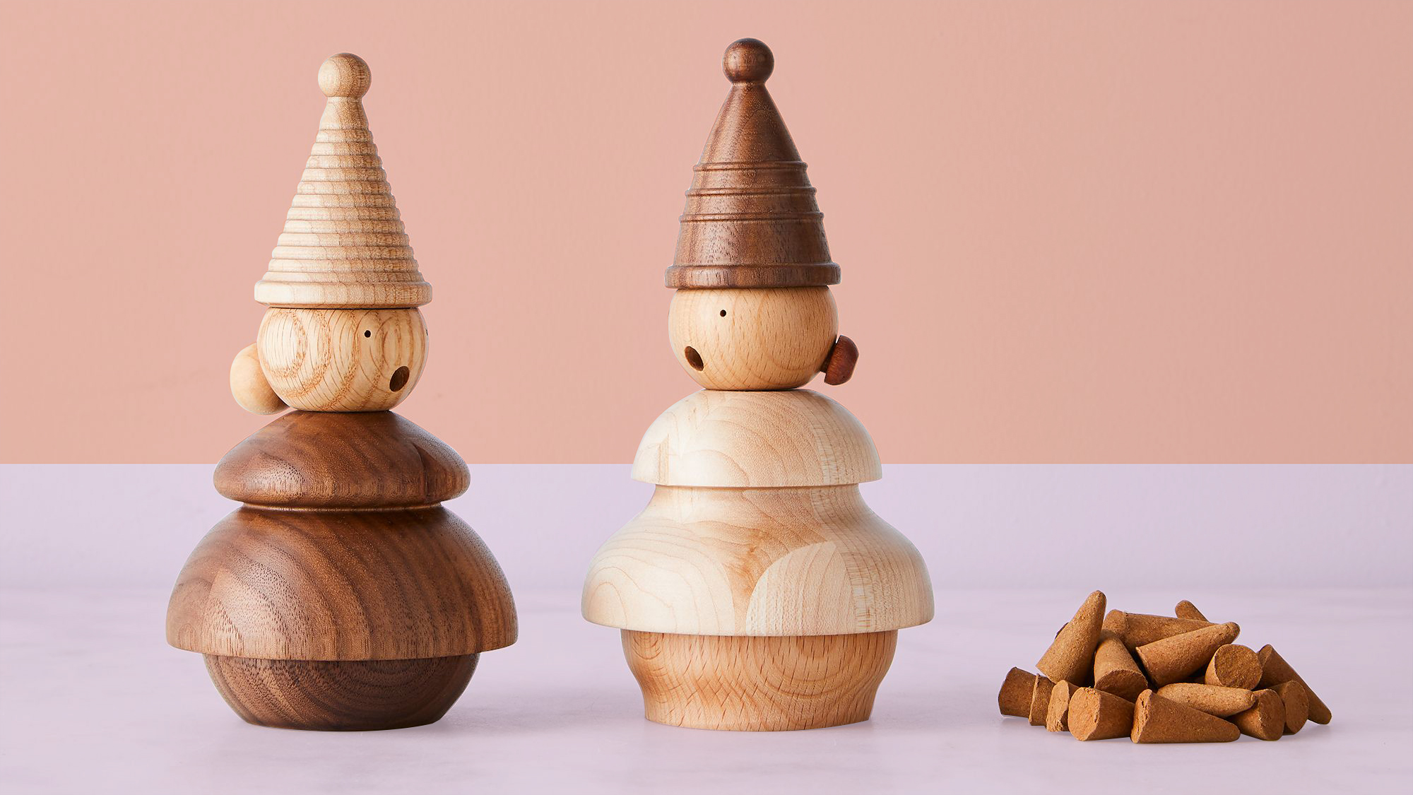 Best Housewarming gifts, ideas - Incense gnomes on pinkish background tout