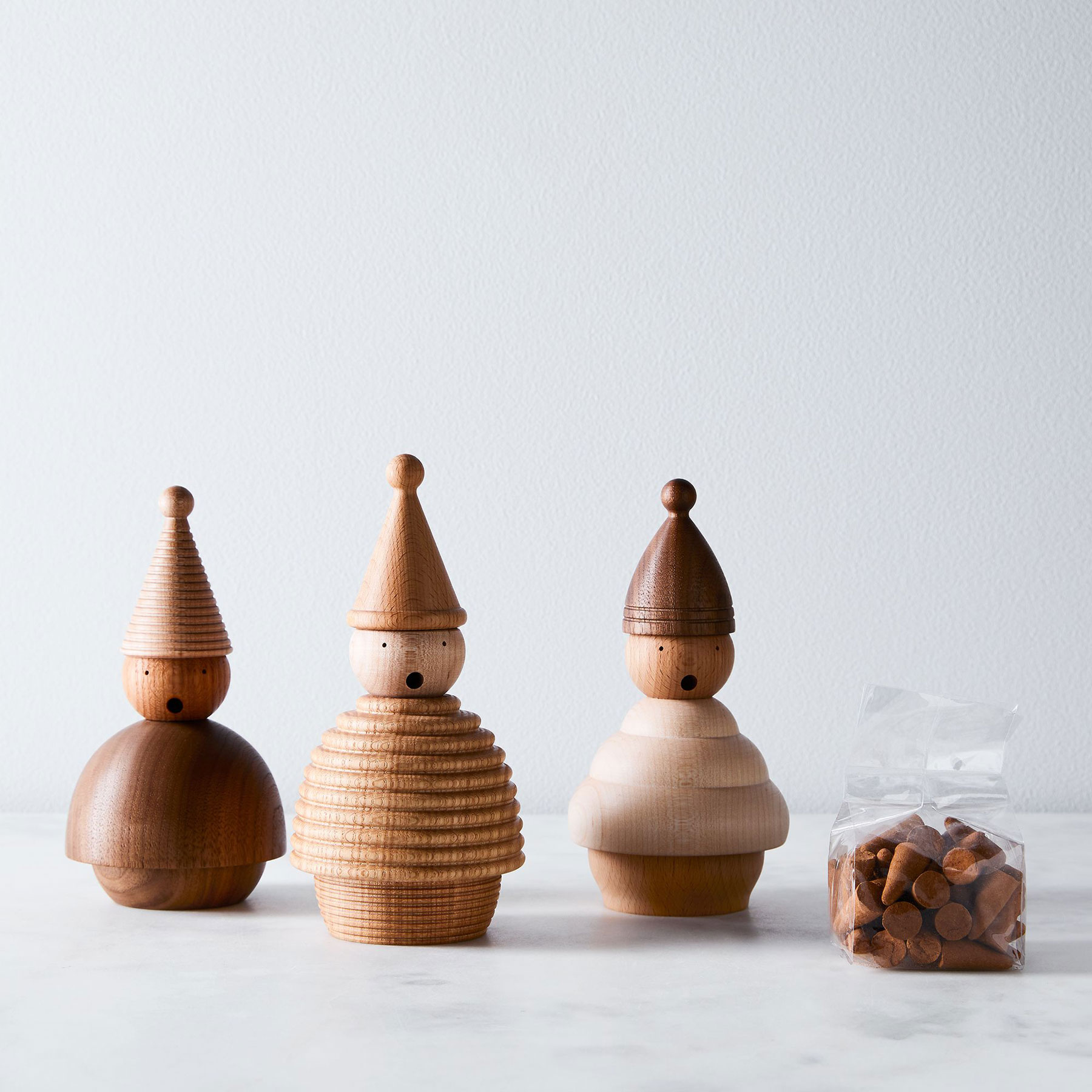 Best housewarming gifts, ideas - Farmhouse Pottery Handmade Wooden Gnome Smokers & Incense