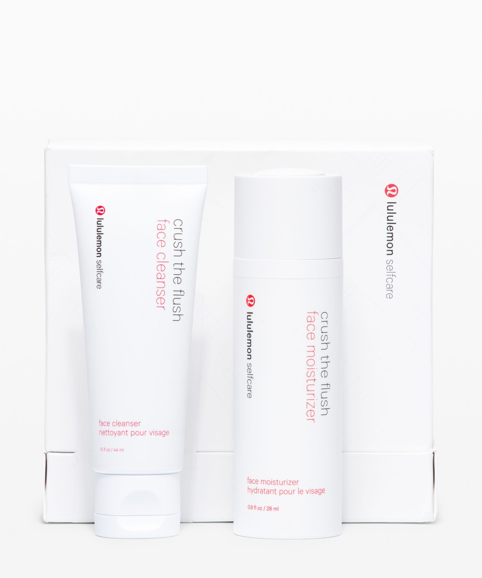 Lululemon has launched a set made for those who have a flushed face after hot, sweaty workouts (hello). The travel-size cleanser and moisturizer make a complete cooling, cleansing, and hydrating team that will reduce facial redness.