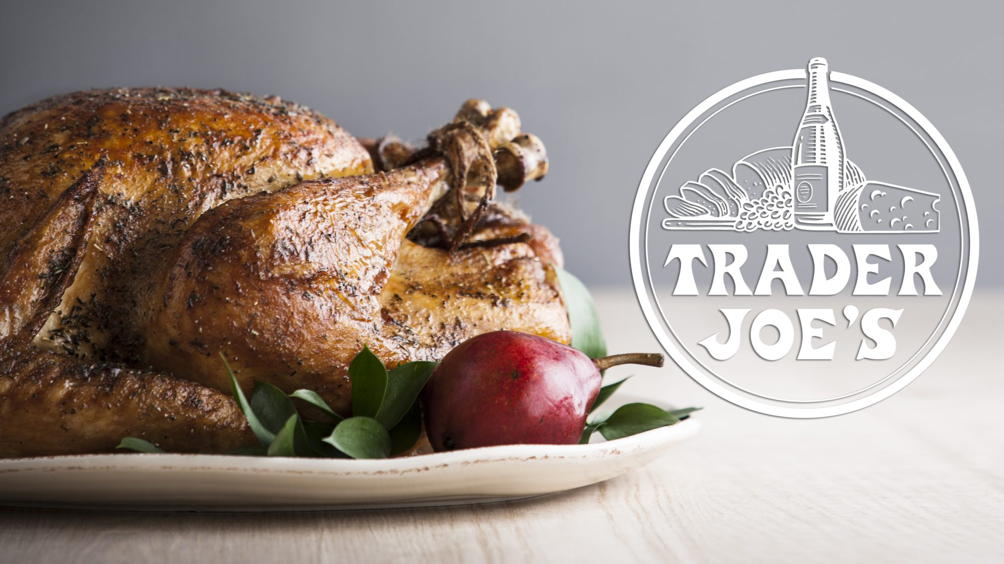 is-Trader-joes-open-on-thanksgiving: turkey on a platter