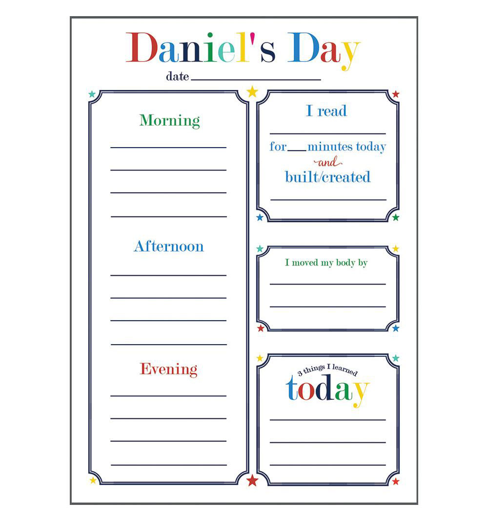 6 Clever Items (11/6/20) - WH Hostess Social Stationery 5x7 Kids Daily Planner Notepad