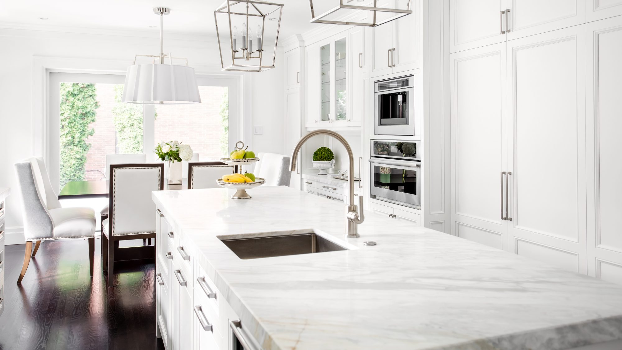 How to clean marble countertops in beautiful white kitchen