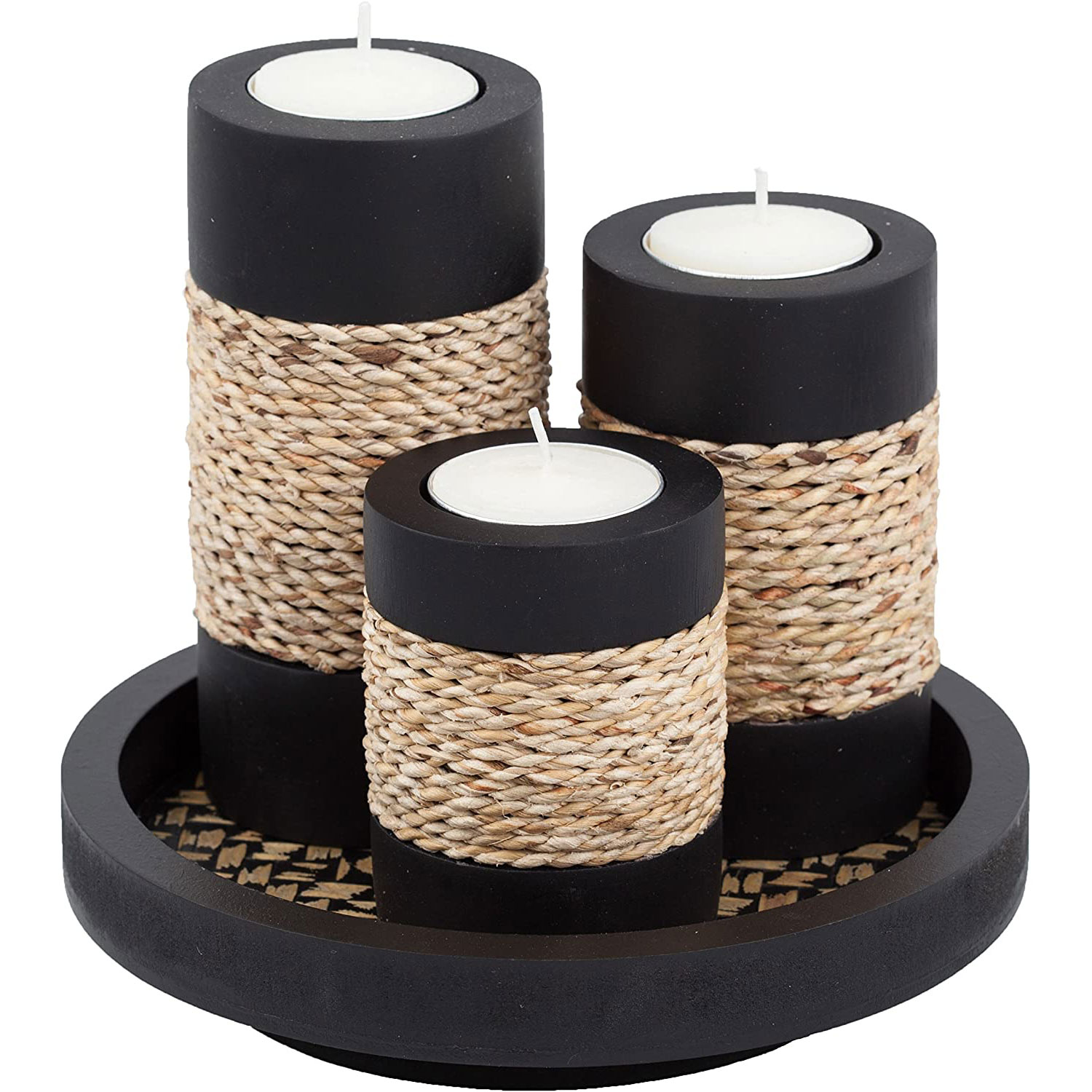 tealight candle holders tray set