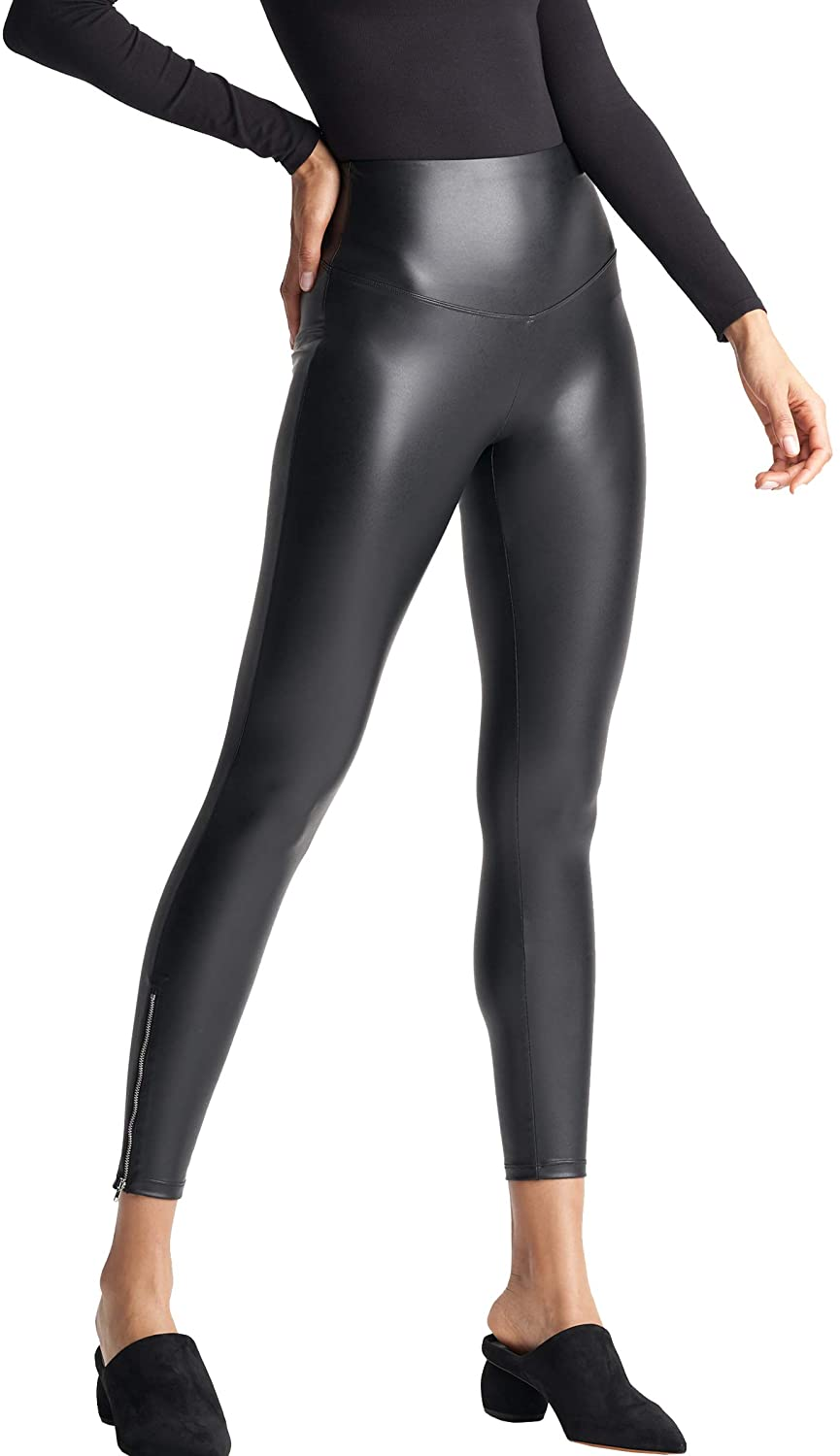 Yummie Signature Waistband Faux Leather Legging