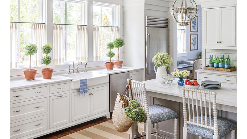 Southern Living House Plan Kitchen with island
