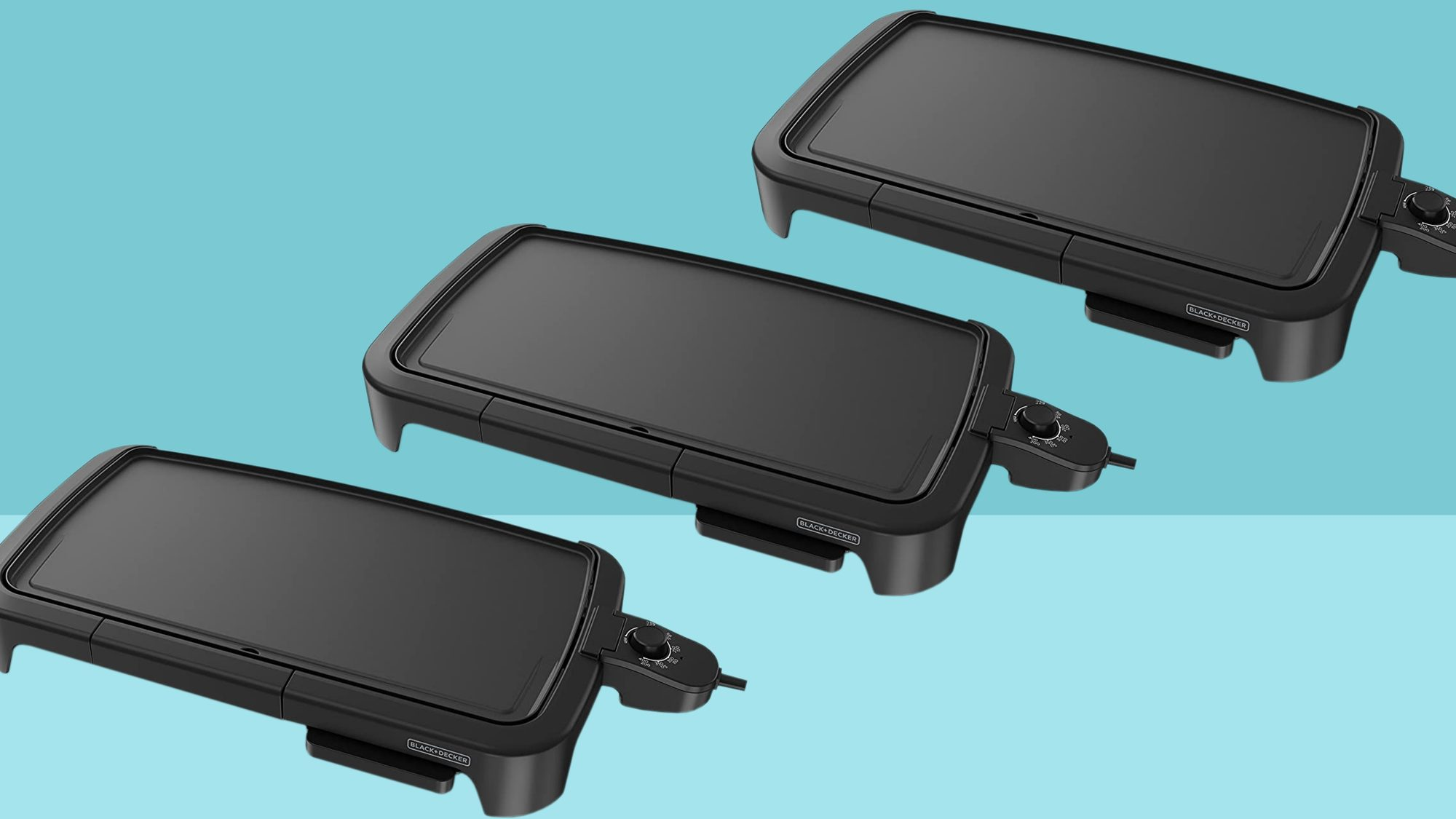 black decker family sized electric griddle warming drip tray