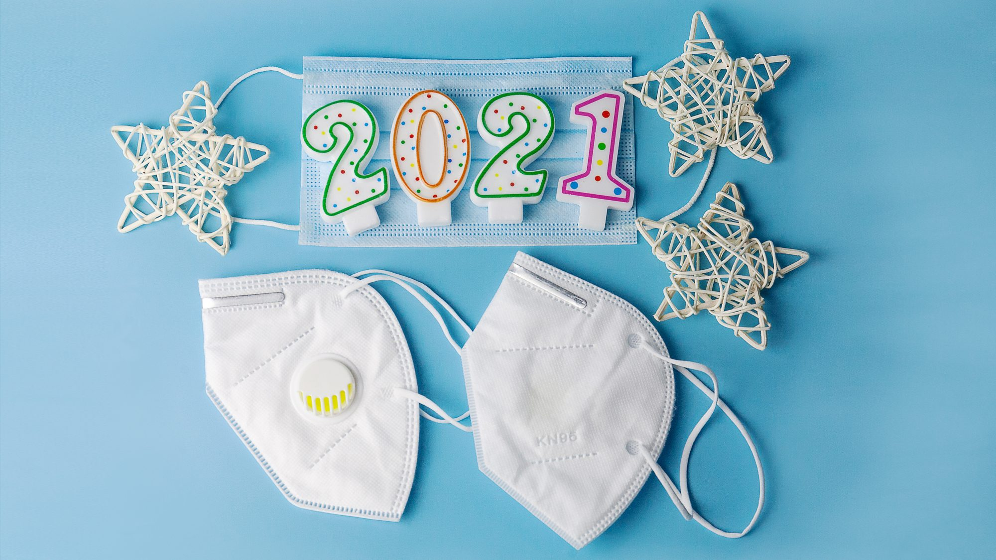 New Year's Eve 2020 safety tips - how to celebrate New Year's 2020 (2021 candles and masks)