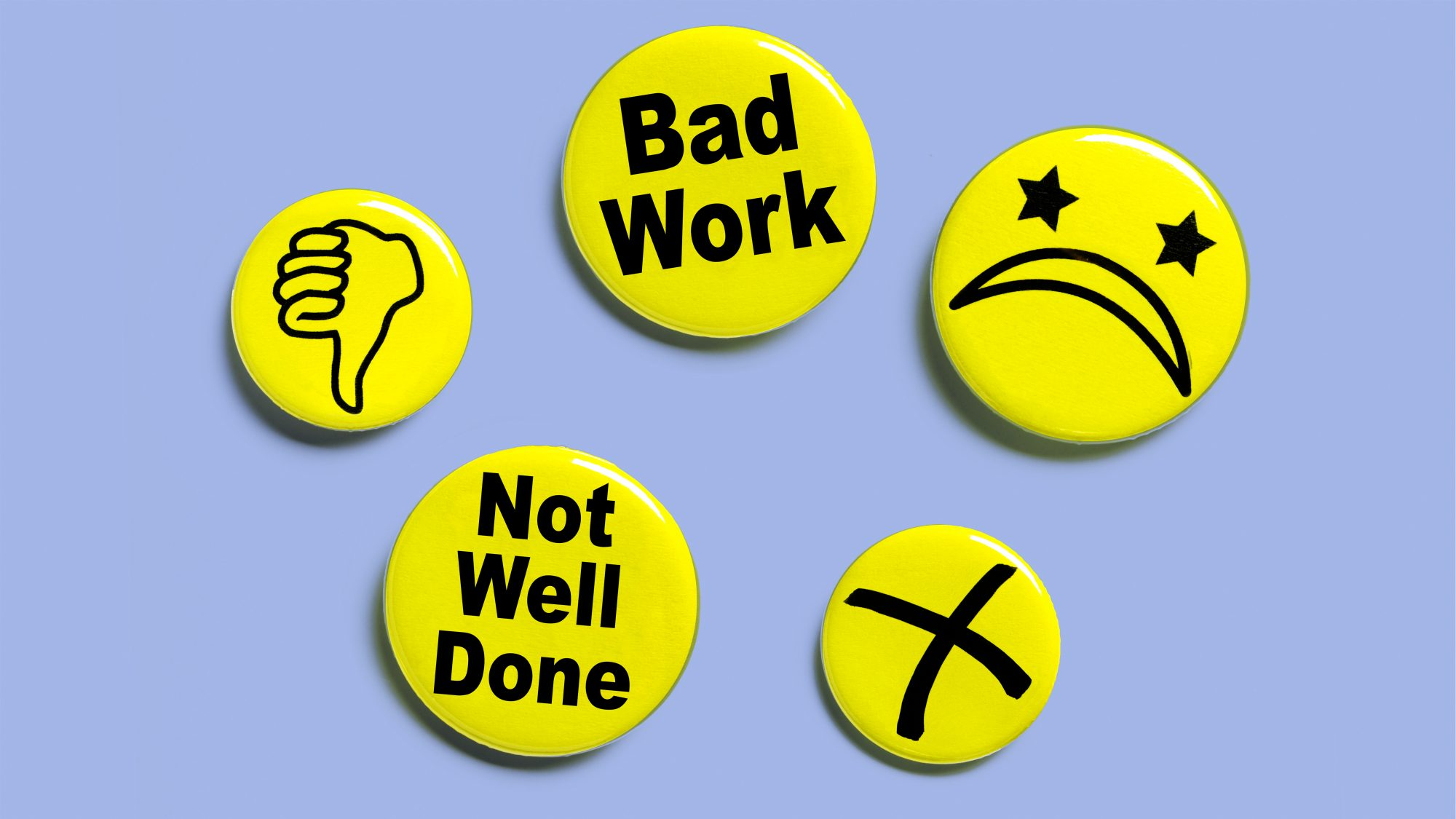 How to Handle Personal and Professional Rejection: negative buttons