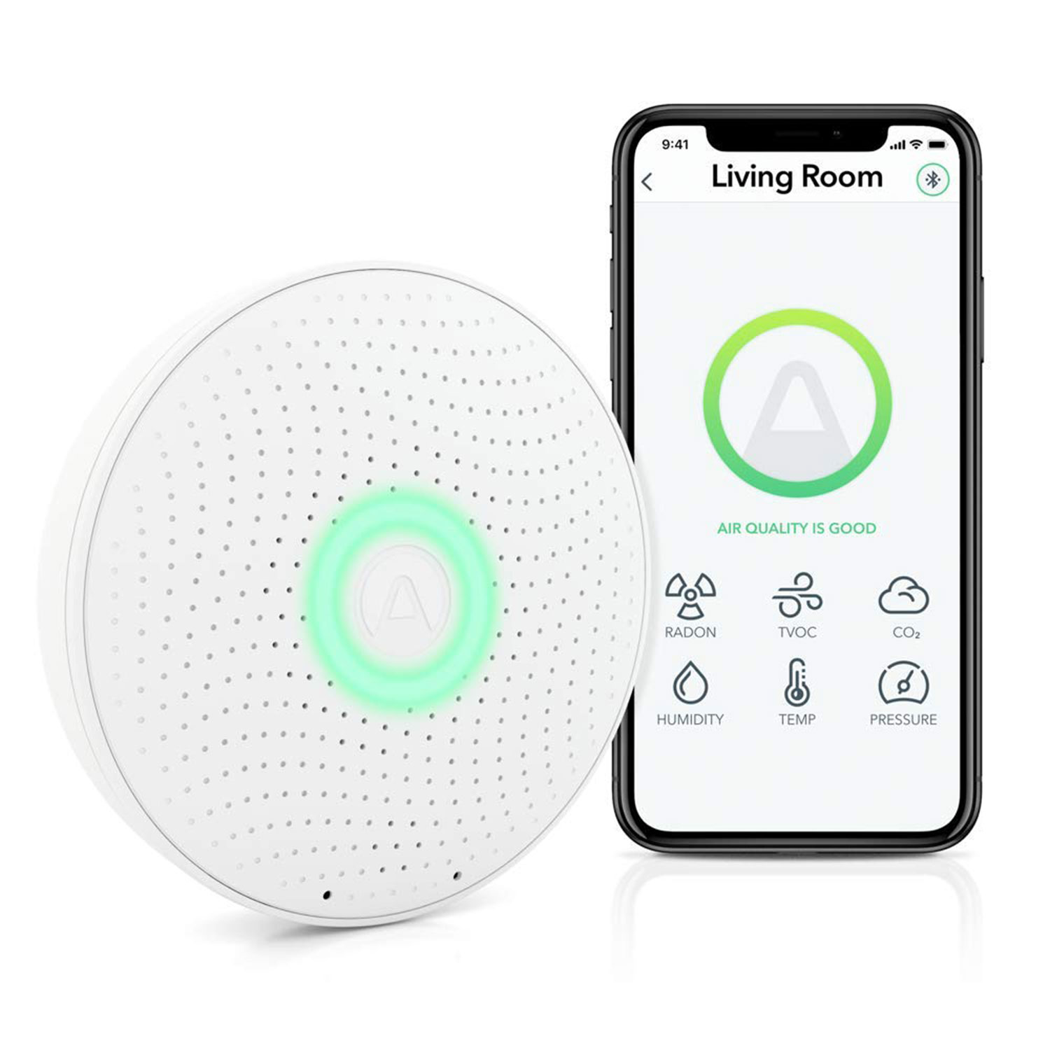 airthings wave plus radon air quality monitor