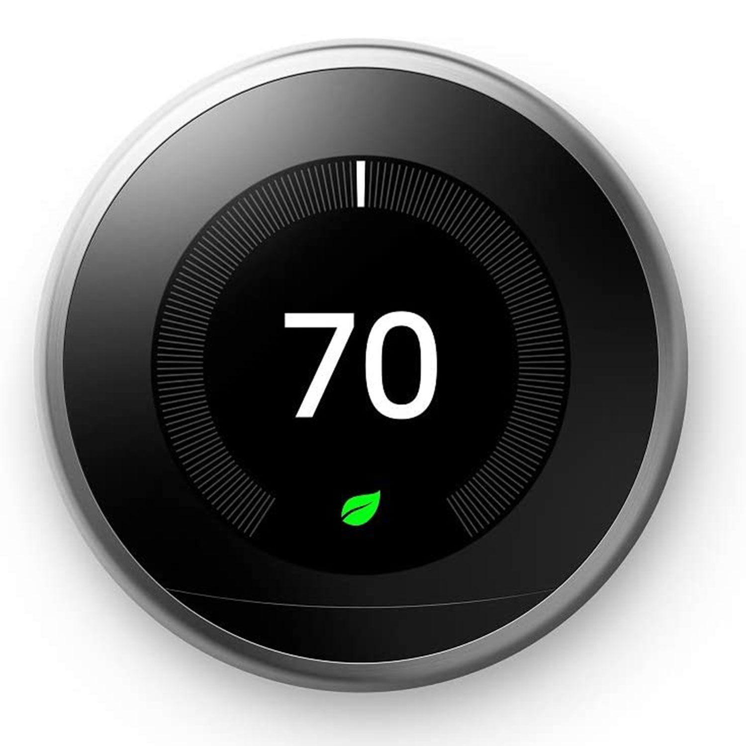 google nest learning thermostat 3 generation stainless steel alexa