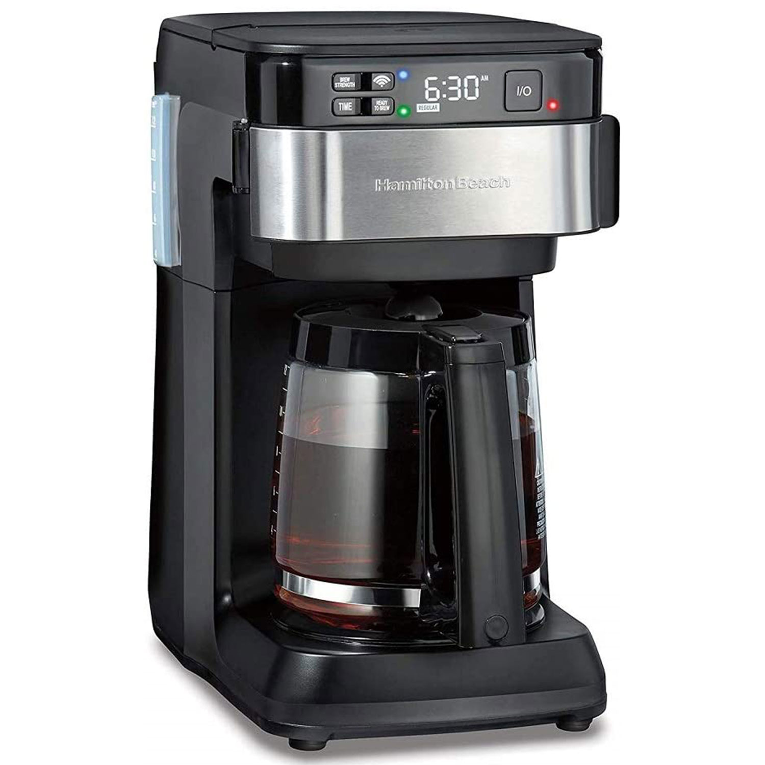 hamilton beach works alexa smart coffee maker programmable 12 cup